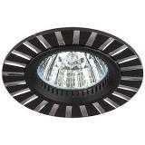 ЭРА KL30 AL/BK Светильник алюминиевый MR16,12V, 50W черный/серебро [1/10?/50]
