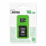 Карта памяти micro SDHC 16GB MIREX class10 + SD адаптер [1/10?]