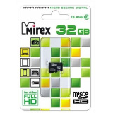 Карта памяти micro SDHC 32GB Mirex Class10 без адаптера [1/10]