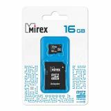 Карта памяти micro SDHC 16GB MIREX class4 + SD адаптер [1/10]