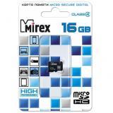 Карта памяти micro SDHC 16GB MIREX class4 [1/10]