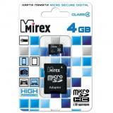 Карта памяти micro SDHC 8GB MIREX class4 + SD адаптер [1/10]