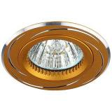 ЭРА KL34 AL/GD Светильник алюминиевый MR16,12V, 50W золото/хром [1/50]
