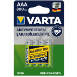 акк. VARTA  R03 800mAh Ni-MH Ready2Use BL4 [4/40/200]