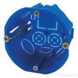 Установочная коробка D68х45 мм IP30, самонарезающие винты, пластиковые лапки, цвет синий TDM [200]