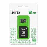 Карта памяти micro SDHC 8GB MIREX class10 + SD адаптер [1/10]
