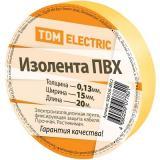 Изолента ПВХ 0,13*15мм Желтая 20метров TDM [1]