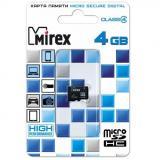 Карта памяти micro SDHC 4GB MIREX class4 [1/10]