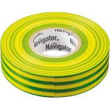 Изолента Navigator 71115 NIT-A19-20/YG (19мм20м желто-зеленая) [1/10/200]