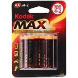 бат. KODAK LR6 MAX BL4+2 [6/72/288]