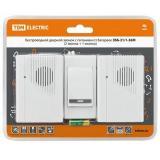 TDM ЗББ-21/1-36М Беспроводной звонок на батарейках (36 мелодий, кнопка IP30, 2х1,5В АА, 2 звонка) [1]