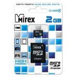 Карта памяти micro SD 2GB MIREX + SD адаптер class4 [1/10]