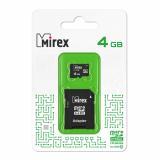 Карта памяти micro SDHC 4GB MIREX + SD адаптер class10 [1/10]