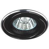 ЭРА KL34 AL/BK Светильник алюминиевый MR16,12V/220V, 50W черный/хром [1/50?]