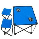IRIT IRG-521 Стол складной с двумя табуретами, Размер стула : 21х27х28 см, Размер стола : 46х46х41 с
