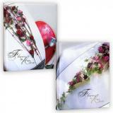 """Фотоальбом 10 цветных """"магнитных""""листов 26X32см, книжн. пер-т, wedding flower [1]"""