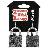 Park BC3P40/BC3P40 Замки навесные,  2 замка под 1 ключ, 4 ключа, механизм - латунь, корпус - 40 мм [1/6?]
