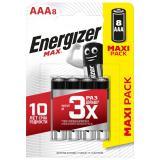 бат. Energizer LR03 Max BL8 (8/96)