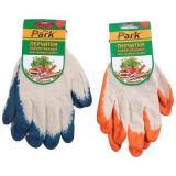 Перчатки хозяйственные PARK EL-S001, размер 10 (XL), хлопок+латекс, цв. - син., оранж. [1/12/120]
