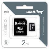 Карта памяти micro SD 2GB Smartbuy + SD адаптер [1]