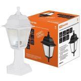 Светильник НТУ 04-60-001 садово-парковый четырехгранник, стойка, пластик, белый TDM
