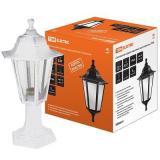 Светильник НТУ 06-60-001 садово-парковый шестигранник, стойка, пластик, белый TDM