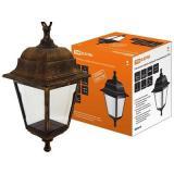 Светильник садово-парковый НСУ 04-60-001 четырехгранник, подвес, пластик, бронза TDM [1]