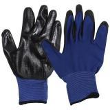 Перчатки хозяйственные PARK EL-N126, размер 9 (L), цв. синий с черным [1/12/120]