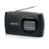 VITEK VT-3587 (BK) Радиоприемник, Настройка частоты: аналоговая, Сетевой адаптер (черный) [1/10]