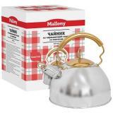 Mallony DJB-3427 Чайник 2,5л со свистком, нерж.сталь, капсульное дно [1/6]