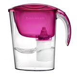"""Фильтр-кувшин Барьер """"ЭКО"""" пурпурный, объем воронки 1,1 литра, объем кувшина 2,6 литра [1/7]"""