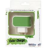 SmartBuy COLOR CHARGE СЗУ, 1А, универсальное, 1хUSB, зеленое (SBP-8040)/100