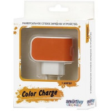 SmartBuy COLOR CHARGE СЗУ, 2А, универсальное, 1хUSB, оранжевое (SBP-8050)/100