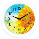 ENGY ЕС-97 Подсолнух Часы настенные, Диаметр: 27,5 см, Питание от 1xAA батарейки, Кварцевый механизм [1/10]