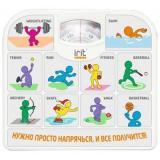 IRIT IR-7312 (спорт) Весы напольные механические, максимальный вес 130кг, цена деления 1кг [1/10]
