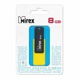 Флэш-диск Mirex 08 Gb CITY YELLOW (ecopack) [1]