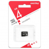 Карта памяти micro SDHC 4GB Smart Buy class10 без адаптера [1]