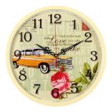 3027-122 (10) Часы настенные круг d=30см, корпус светло-желтый
