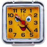 """В1-015 (100) Будильник кварц, корпус прозрачный """"Смайлик с улыбкой"""" """"21 Век"""" [1/50?]"""