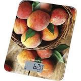 Polaris PKS 1043DG Peaches Кухонные весы, Максимальная нагрузка: 10кг, Автоматическое отключение, Стекло, Персики [1/12?]