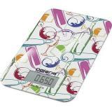 Polaris PKS 0741DG Italy Белый/рисунок Кухонные весы, Максимальная нагрузка: 7кг, 1 x Lithium 2032, Стекло [1?/10?]