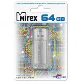 Флэш-диск Mirex 64GB UNIT SILVER (ecopack) [1/10?]