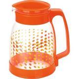 Mallony Brocca-1800 Кувшин из жаропрочного стекла с пластик.ручкой, 1,8л, оранж.дизайн [1/24]