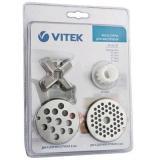 VITEK VT-1623 (ST) Нож, втулка, диск 4 мм, диск 8 мм для мясорубок VT-1673/1675/1676/1677 [1/20]