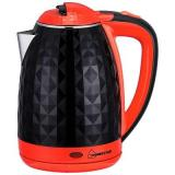 Homestar HS-1015 Чайник электрический, Мощность: 1500Вт, Обьем: 1,8 л, Двойной корпус (сталь внутри, пластик снаружи) черно-красный [1?/12?]