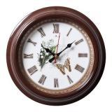 2121-136 (10) Часы настенные круг d=21см, корпус коричневый