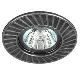 ЭРА ST6 CH/BK Светильник штампованный MR16,12V, 50W черный/хром [1/100]