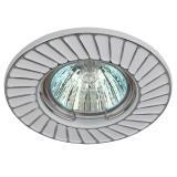 ЭРА ST6 CH/WH Светильник штампованный MR16,12V, 50W белый/хром [1/100]