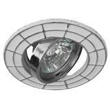 ЭРА ST7A CH/WH Светильник штампованный MR16,12V, 50W белый/хром [1/100]