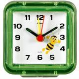 """В1-010 (120) Будильник кварц, корпус зеленый """"Пчелка""""""""21 Век"""" [1?/50]"""